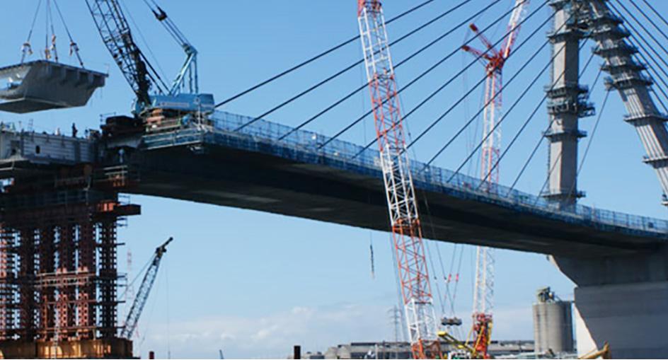 橋梁架設工事