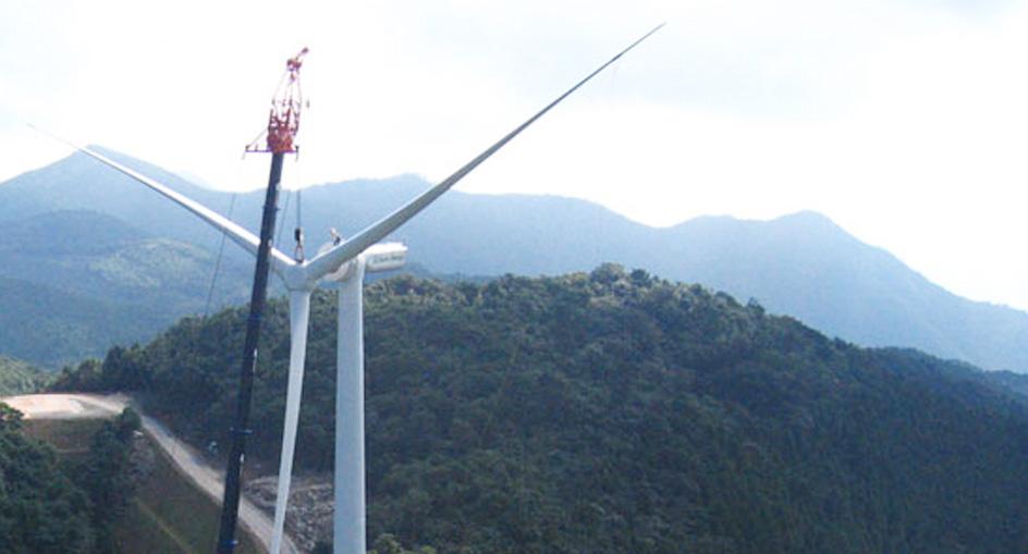 風力発電架設工事